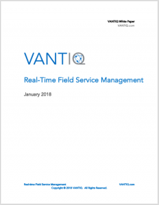 VANTIQ Real Time Field Service Management