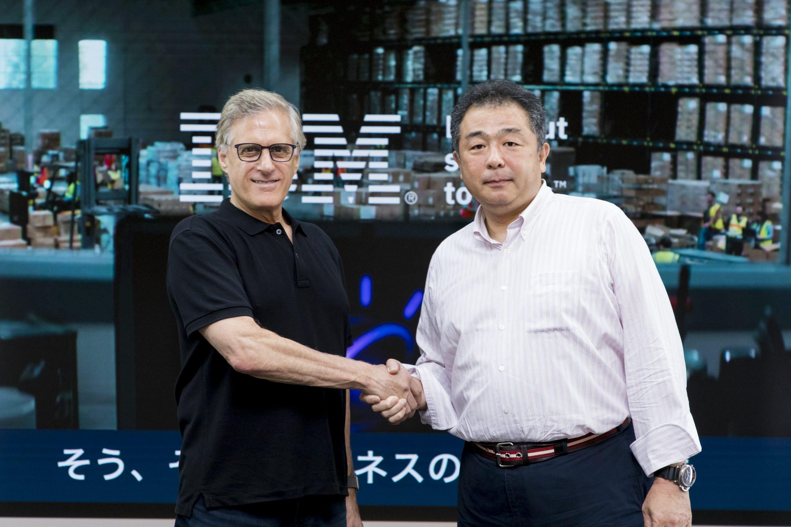 Marty and Tamba-san shaking hands at SoftBank World