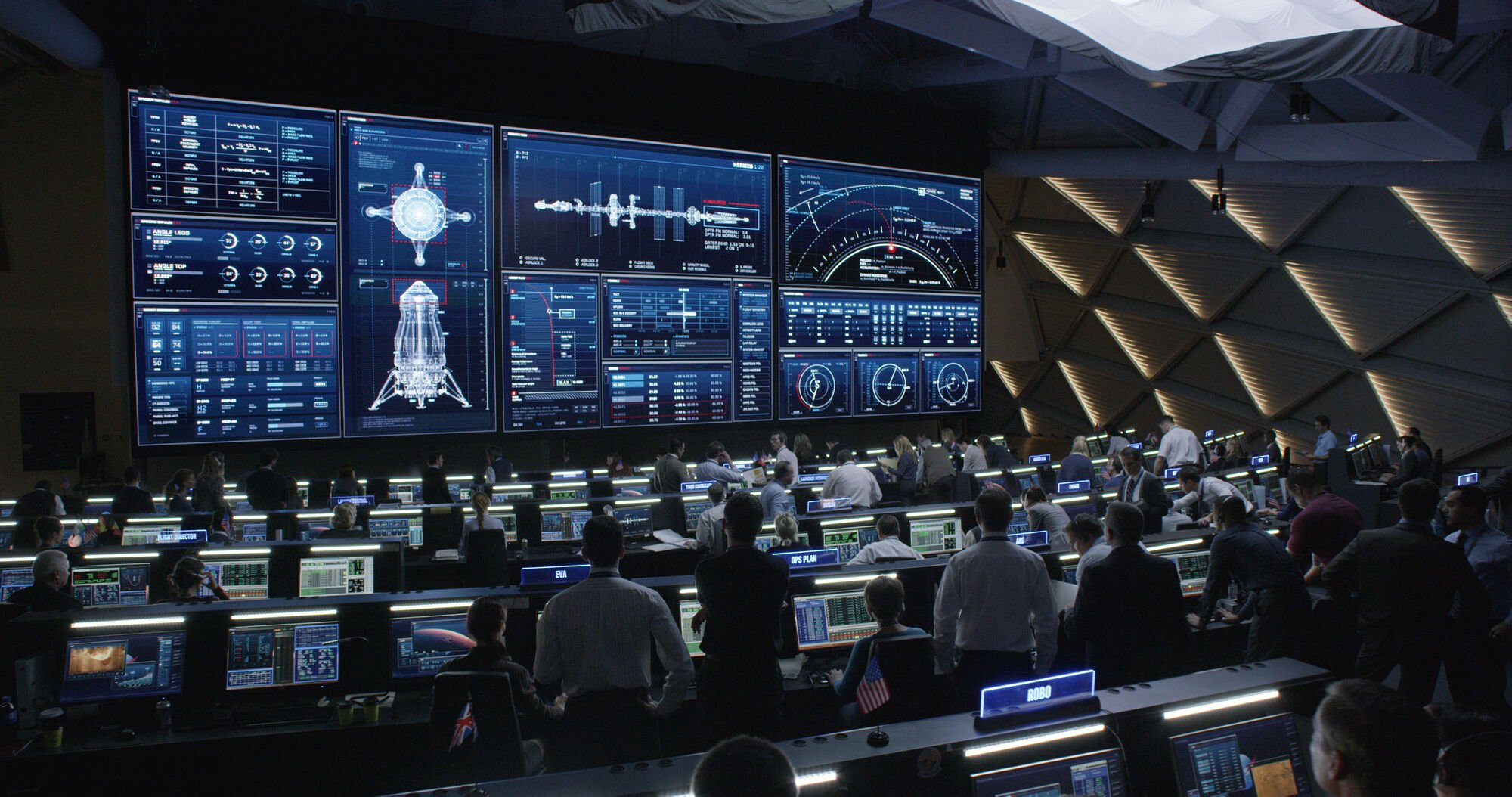 mission control room for spacecraft