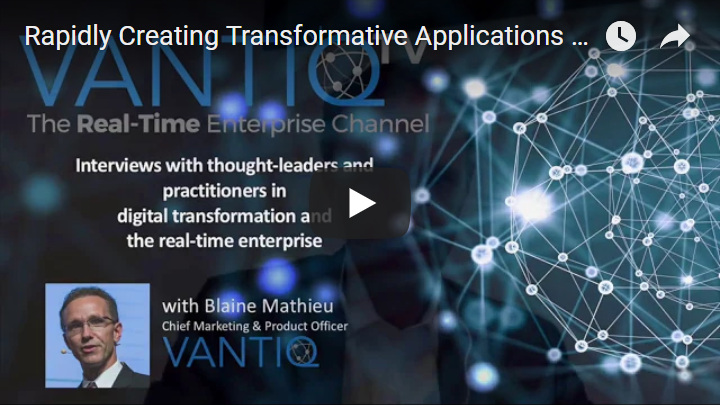 VANTIQ TV-guest speaker InfoSquare, interviews with thought-leaders and practitioners in digital transformation and the real-time enterprise