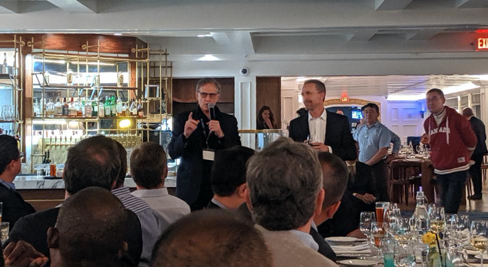 Marty Sprinzen making speech at VANTIQ GPS 2019 dinner reception