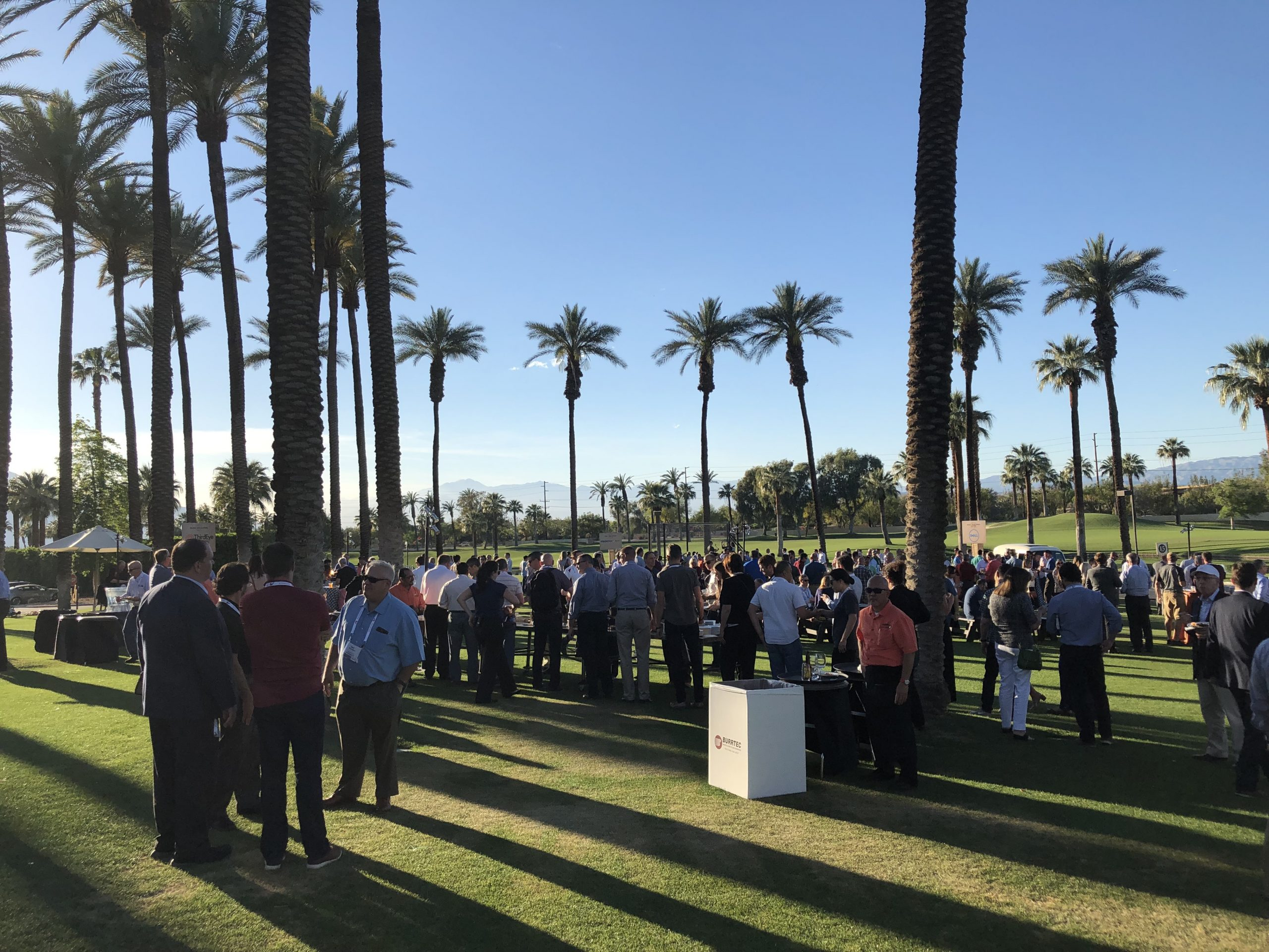event participants networking and bonding at JW Marriott Desert Spring Resort's west lawn