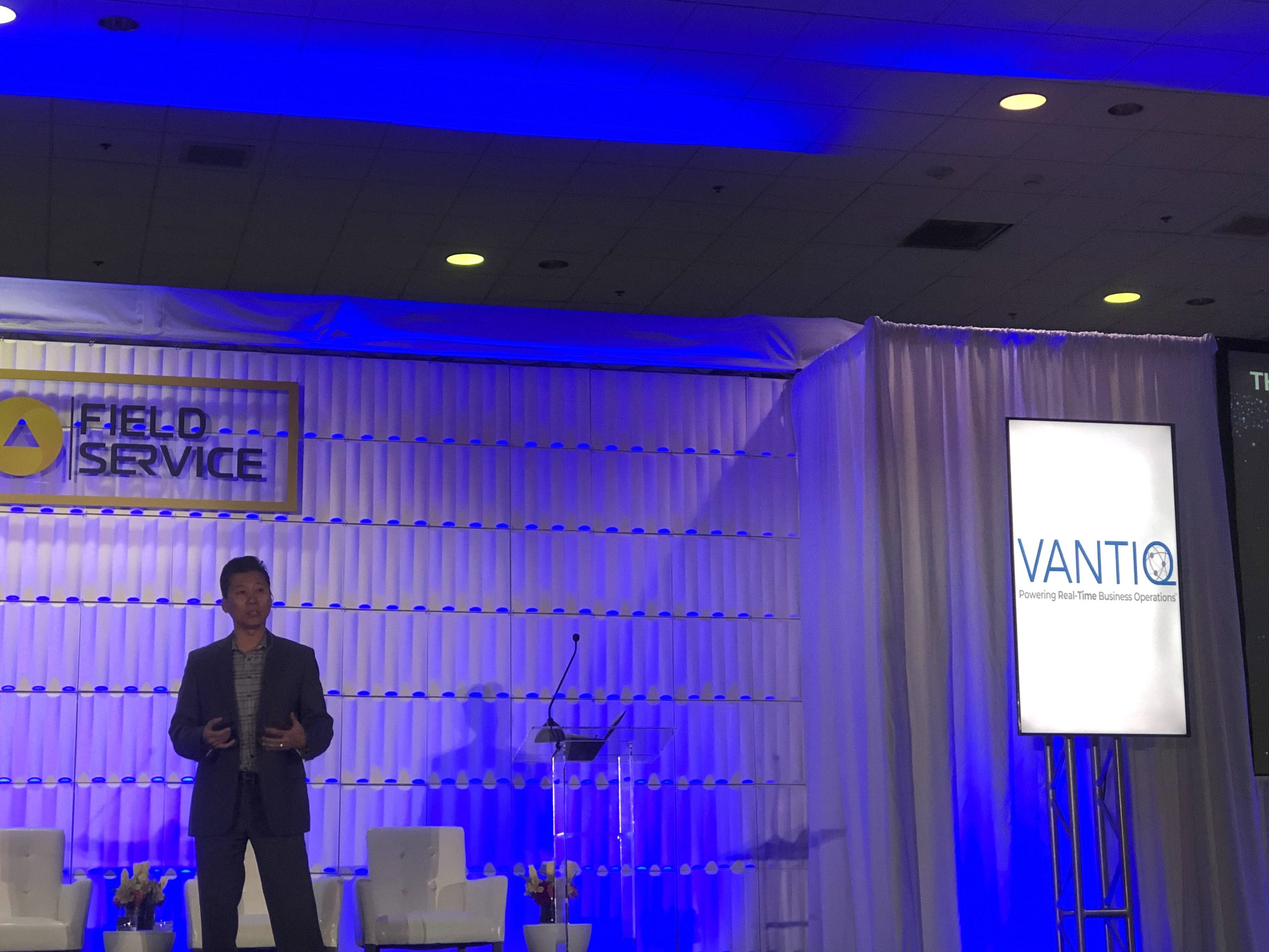 Eddie Tung speaking about how VANTIQ can create real-time field service applications