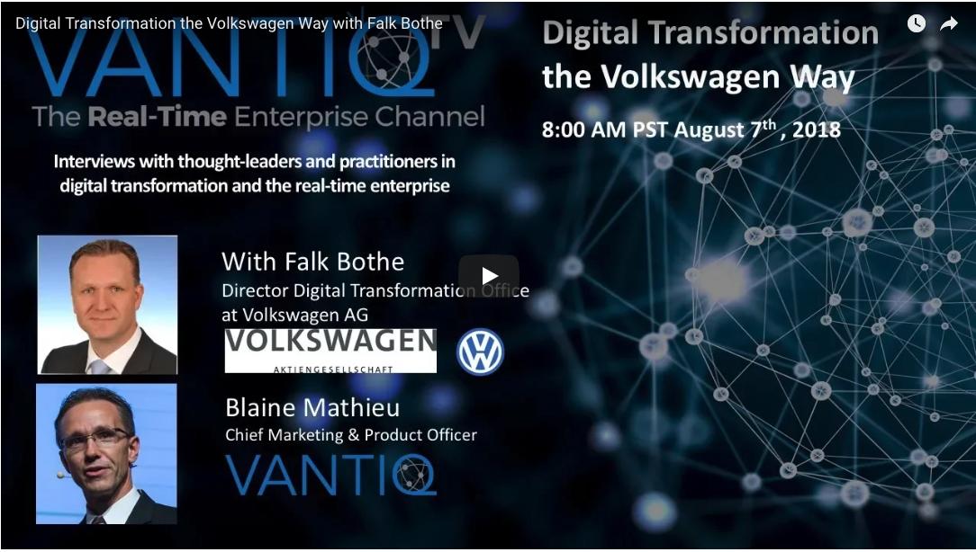 VANTIQ TV-guest speaker Falk Bothe Director Digital Transformation Office at Volkswagen AG, Digital Transformation the Volkswagen Way