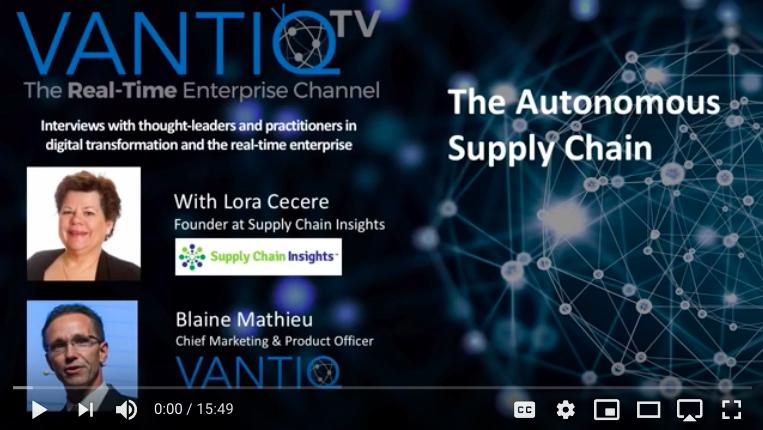 VANTIQ TV-guest speaker Lora Cecere Founder at Supply Chain Insights, The Autonomous Supply Chain