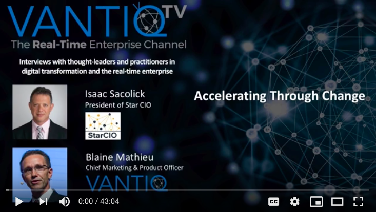 VANTIQ TV-guest speaker Isaac Sacolick President of Star CIO, Accelerating Through Change