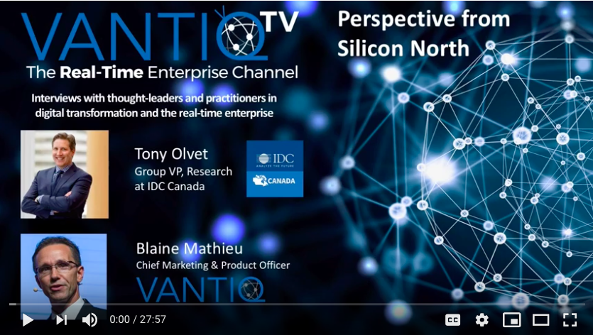 VANTIQ TV-guest speaker Tony Olvet Group VP research at IDC Canada, Perspective from Silicon north