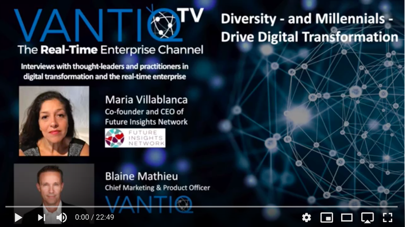 vantiq tv episode starring maria villablanca from future insights network and blaine mathieu