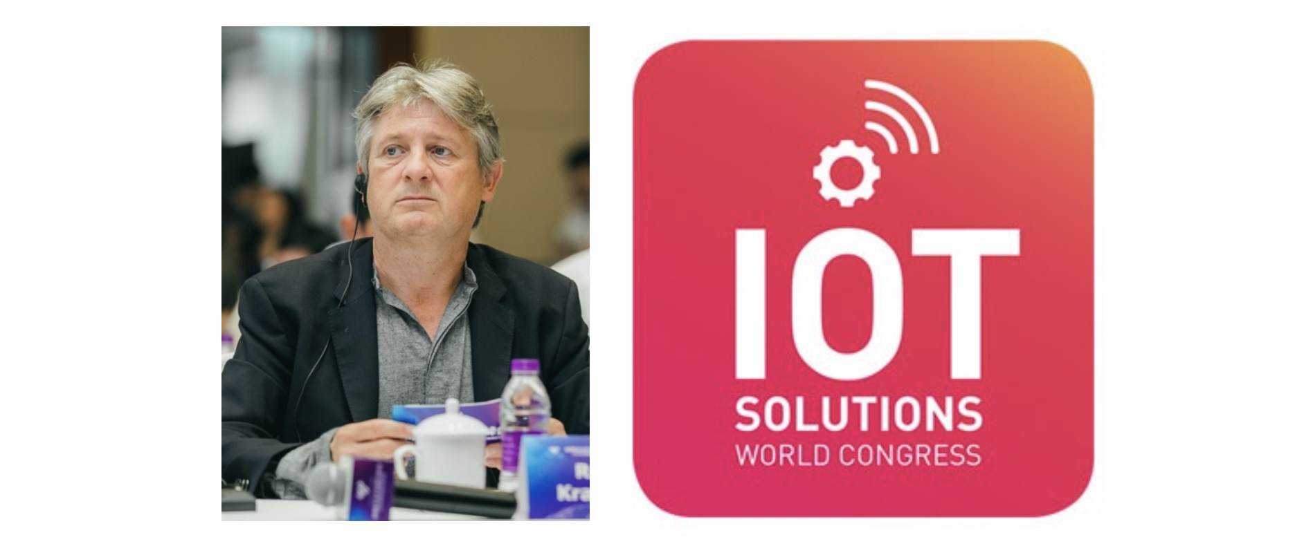 rob van kranenburg and the iot solutions world congress logo
