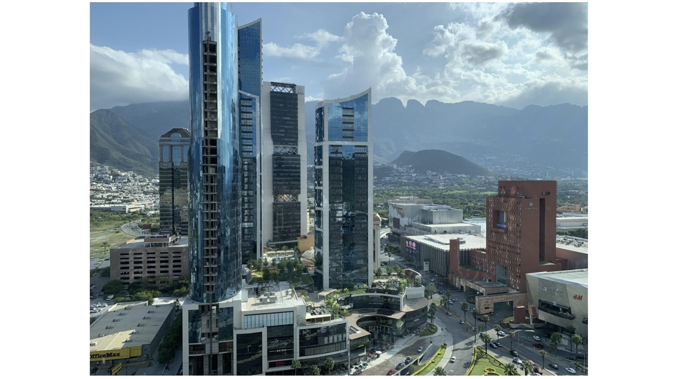 photograph of Monterrey Mexico skyscrapers