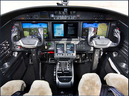 cockpit of Marty Sprinzen's jet