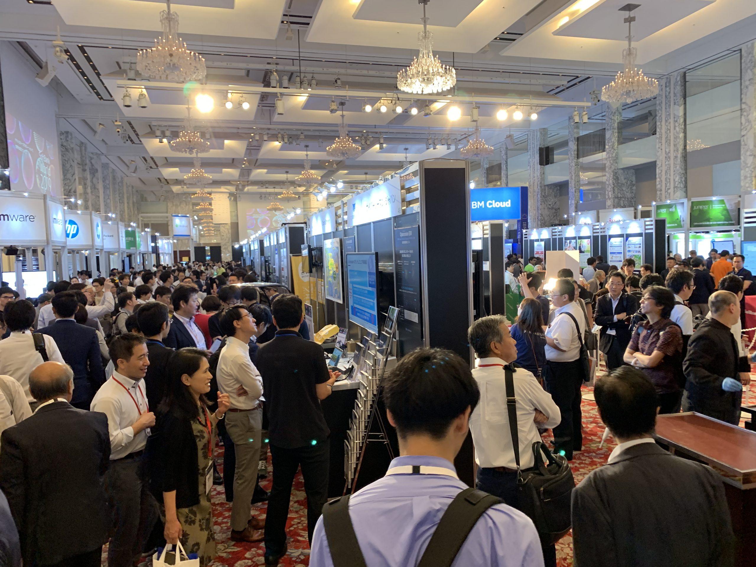 busy show floor at SoftBank World 2019