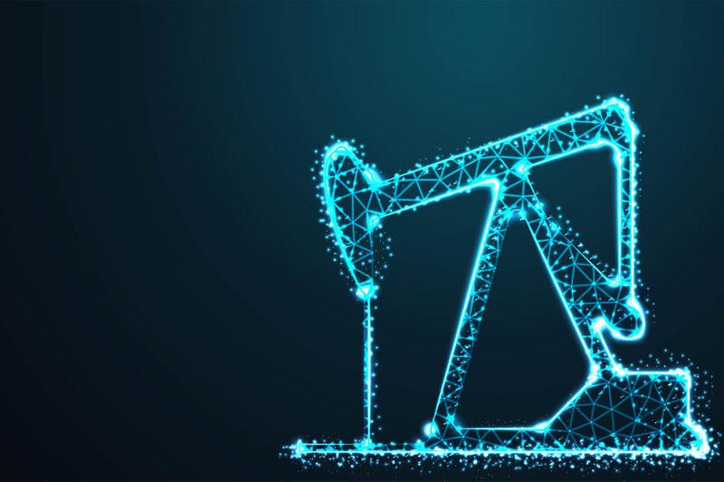 technologically advanced oil drill in blue color