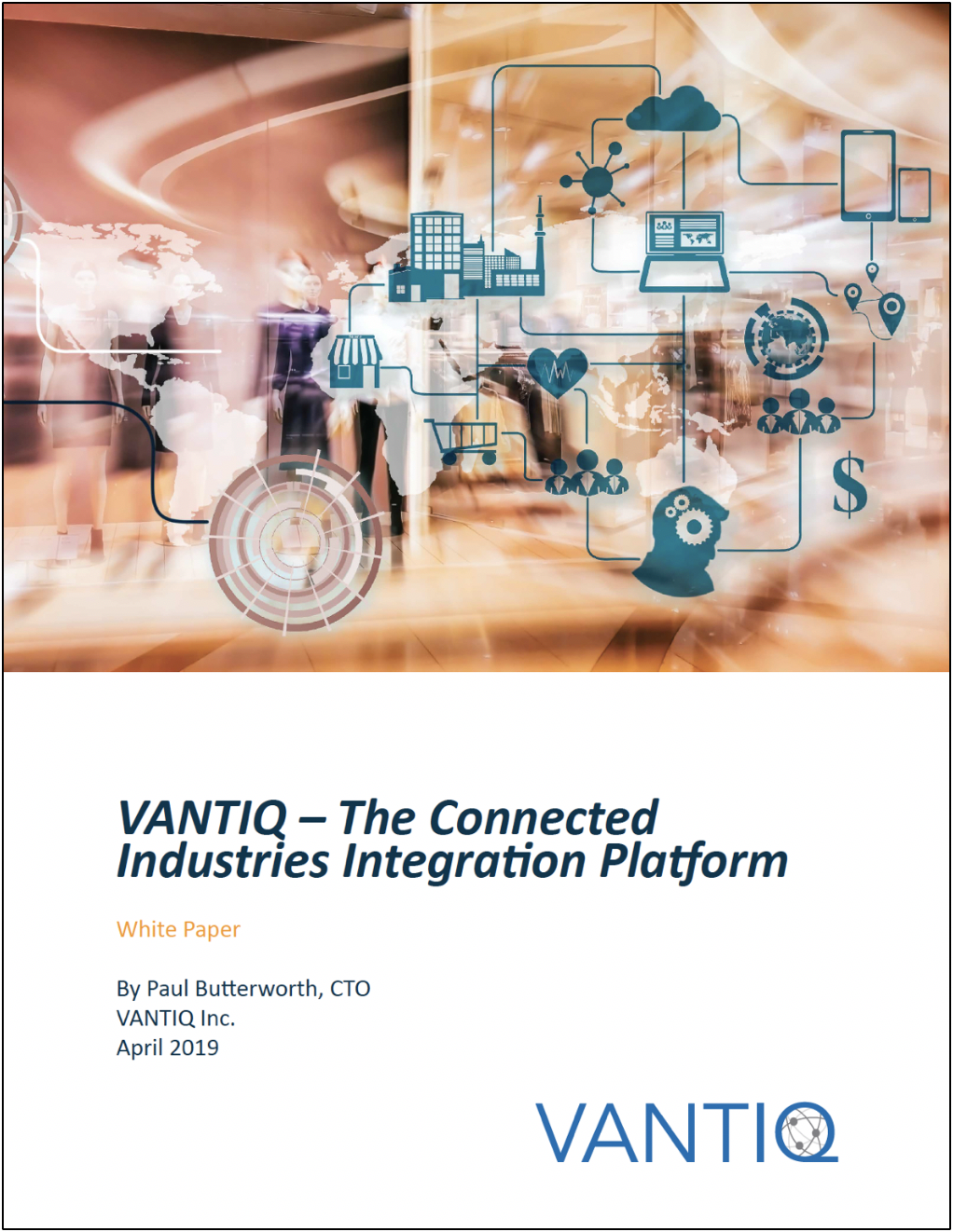 vantiq connected industries white paper cover image
